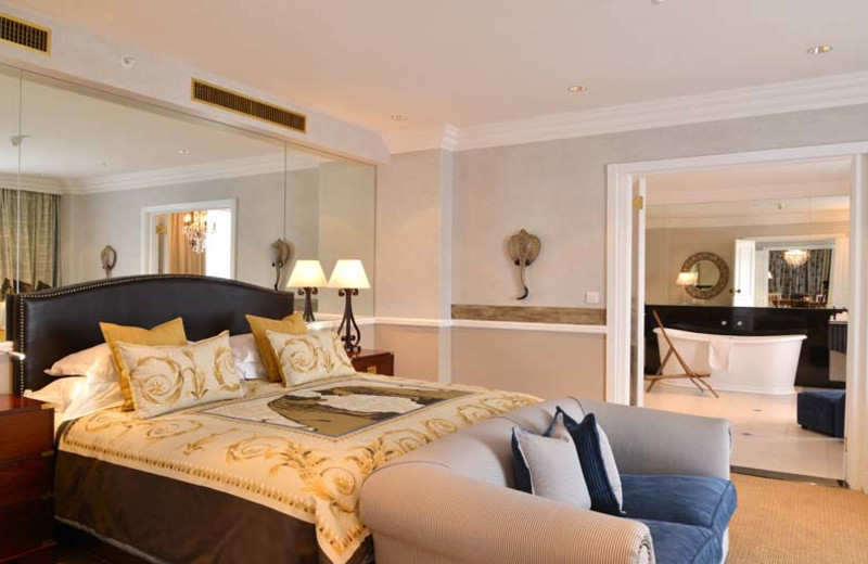 Guest suite at Meikles Hotel.