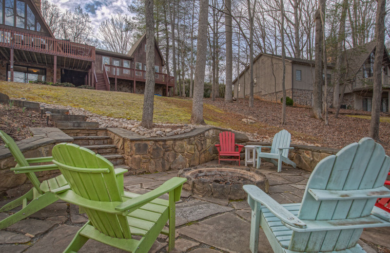 Rental patio at Premier Vacation Rentals @ Smith Mountain Lake.