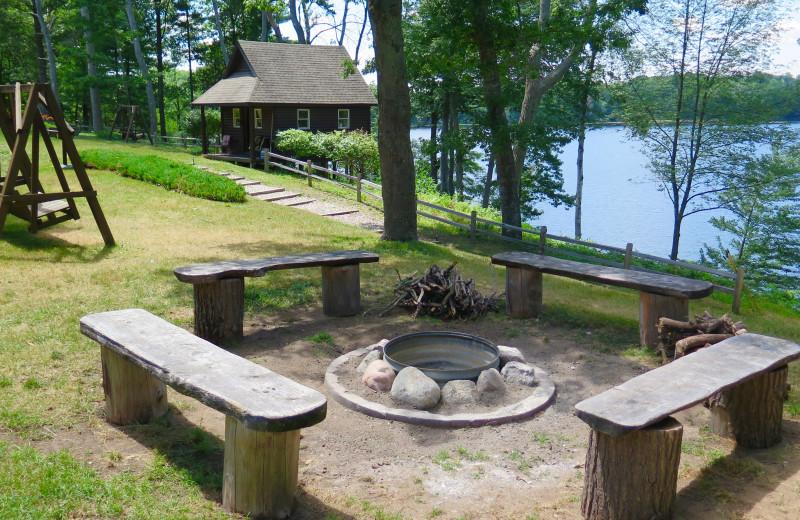 Campfire at Sleeping Bear Resort.