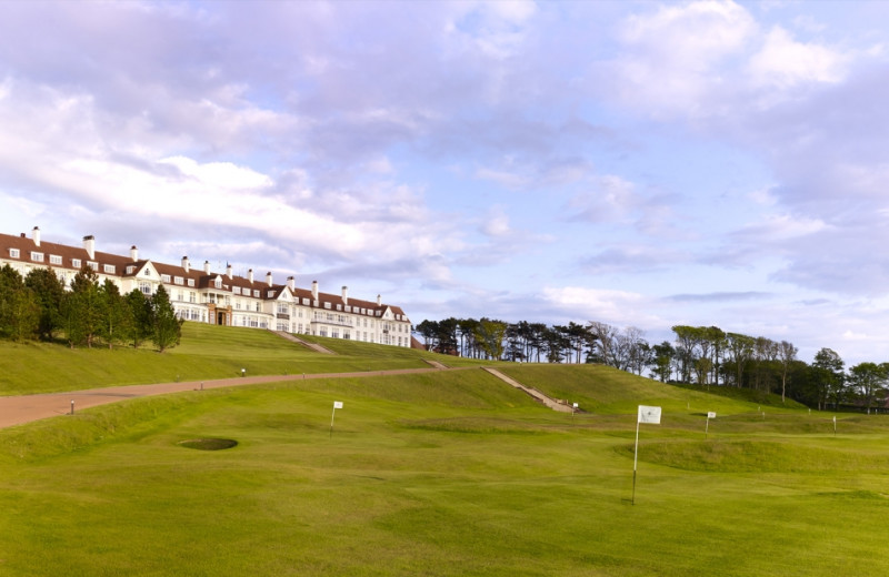 Exterior view of Turnberry Hotel.