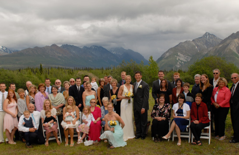Wedding party at Majestic Valley Lodge.