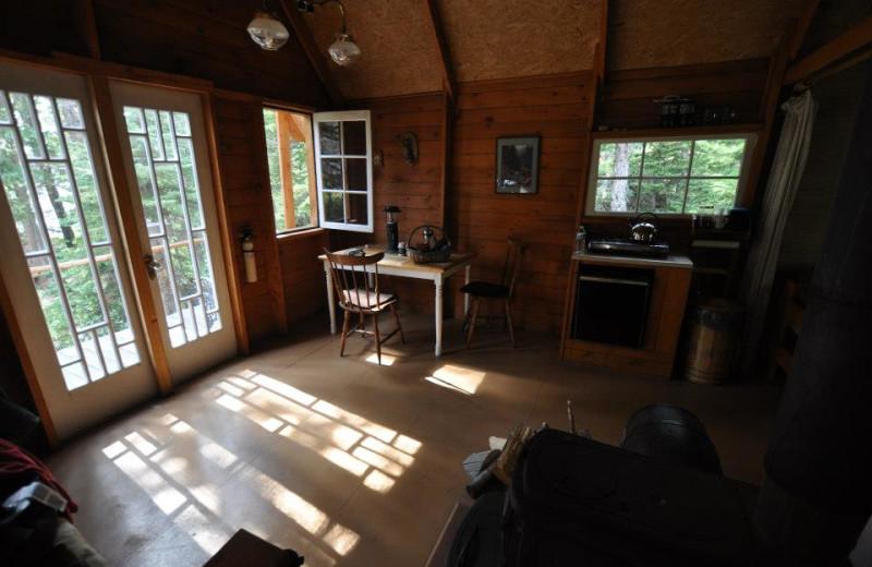 Beach Cabin Interior at Crazy Bear Wilderness Lodge