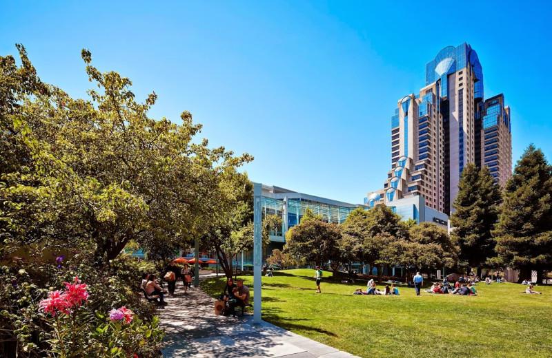 Exterior view of San Francisco Marriott.