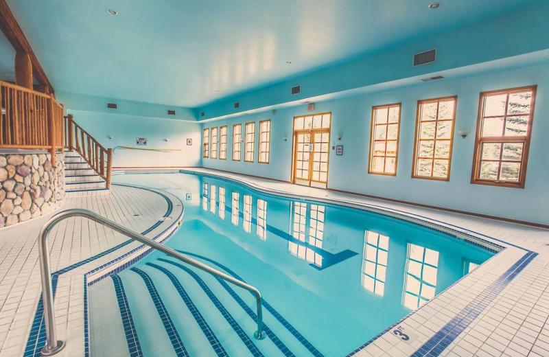 Indoor pool at Glacier House Resort.