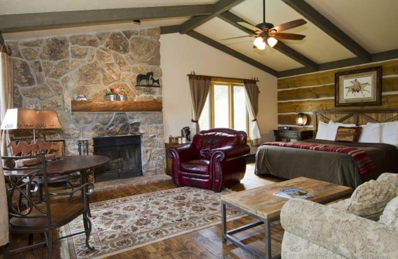 Cabin interior at C Lazy U Ranch.