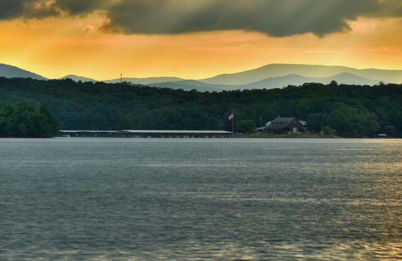 Lake Blue Ridge Marina near Nevaeh Cabins.