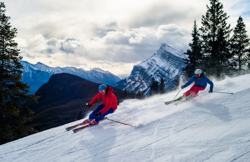 Skiing at The Fox Hotel & Suites in Banff.