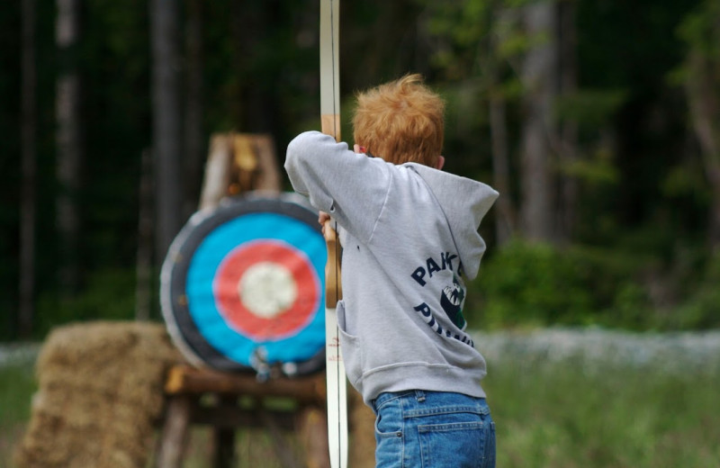 Archery practice at Clayoquot Wilderness Resort.