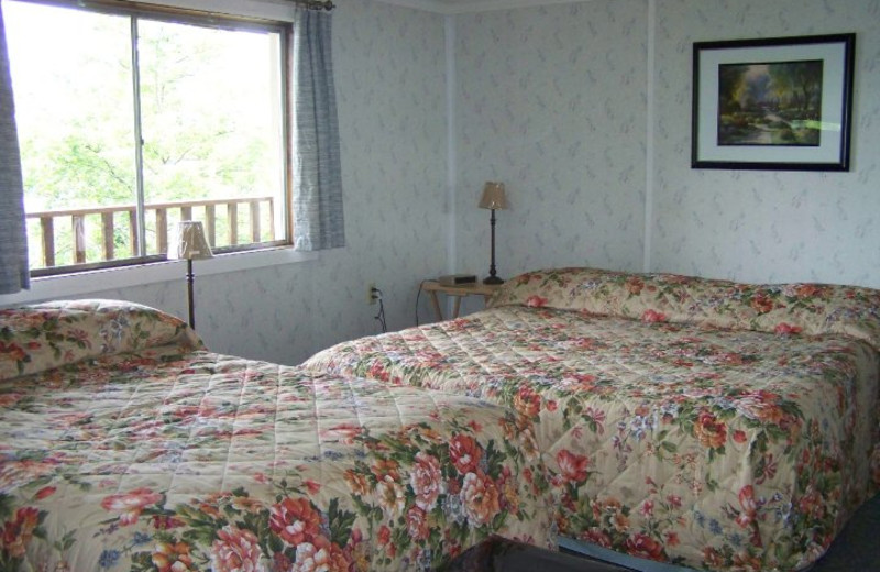 Guest Room at Finger Lakes Waterfall Resort