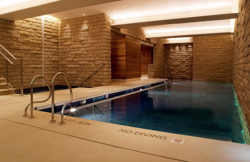 Indoor pool at Solaris Residences.