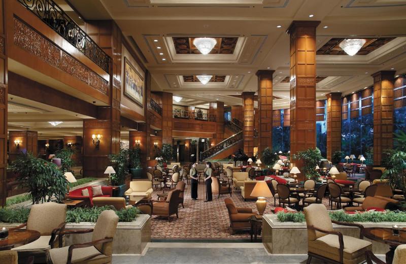 Lobby lounge at Shangri-La Hotel-Surabaya.