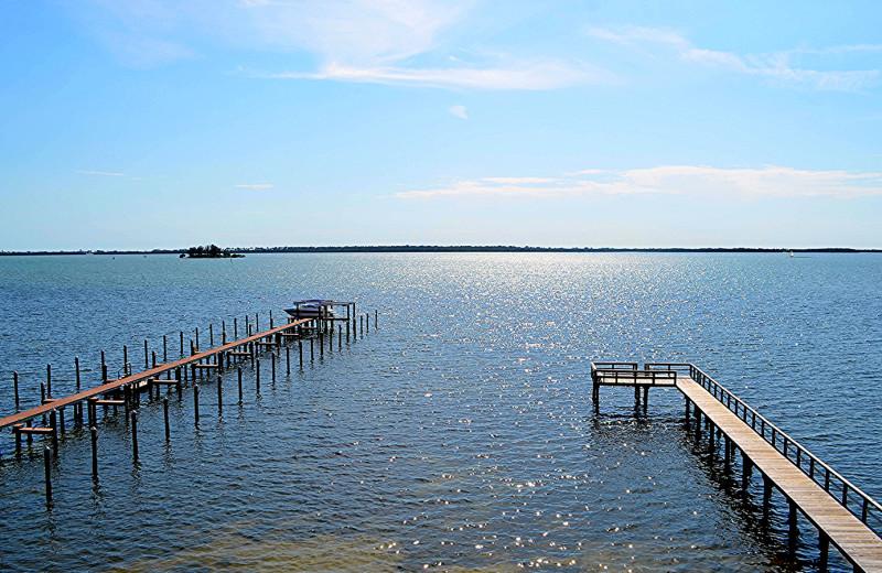 Dock at Beso Del Sol Resort.