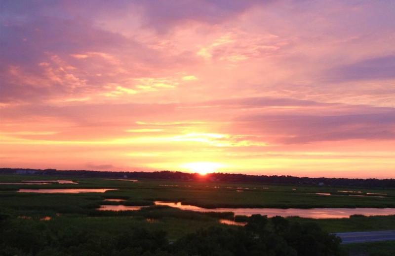 Sunset at The Sunset Inn.