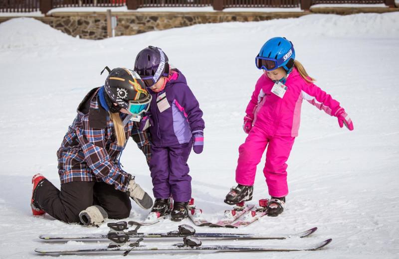 Skiing at Mountain Creek Resort.