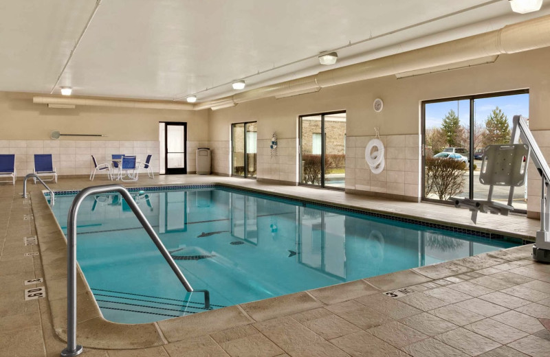Indoor pool at Hampton Inn & Suites.