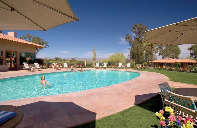 Outdoor pool at Rancho De Los Caballeros.