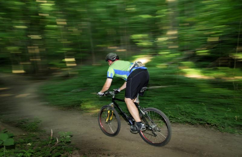 Biking at Rumbling Bald Resort.