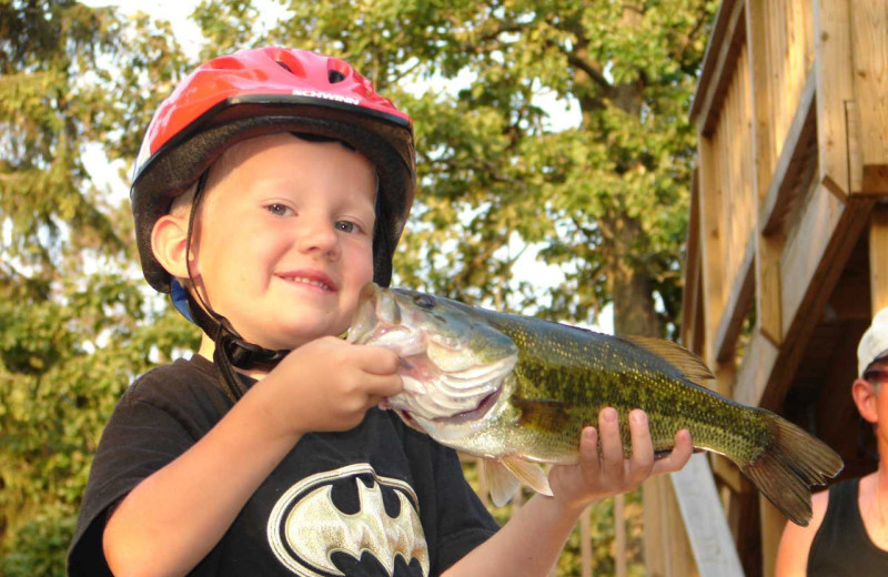 Fishing at Train Bell Resort.