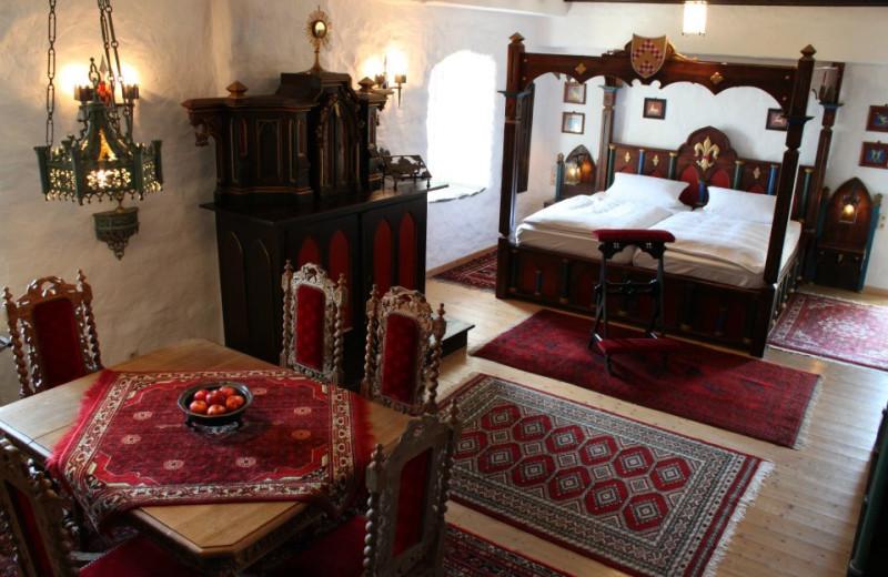 Guest room at Castle Liebenstein.