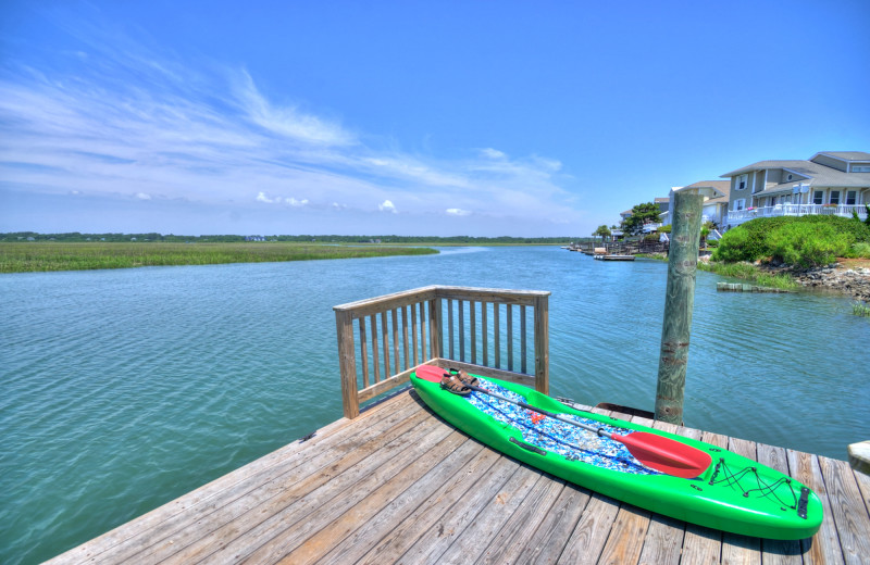 Dock view at Williamson Realty Vacations.
