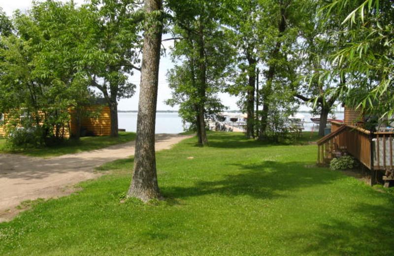 View from cabin deck at Wild Walleye Resort.