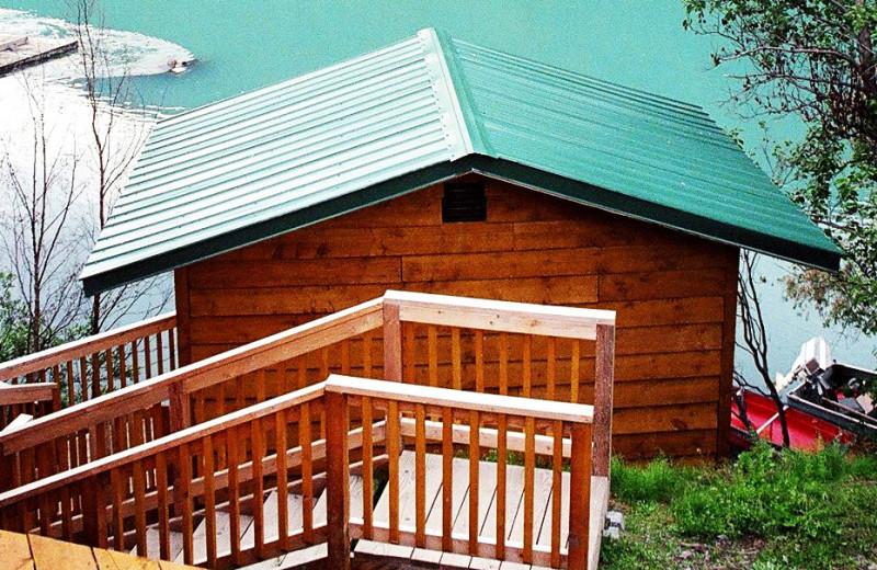 Sauna exterior at Kenai River Drifters Lodge.