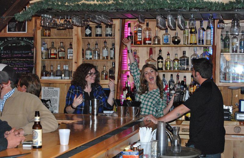 Bar at Arrowhead Mountain Lodge.