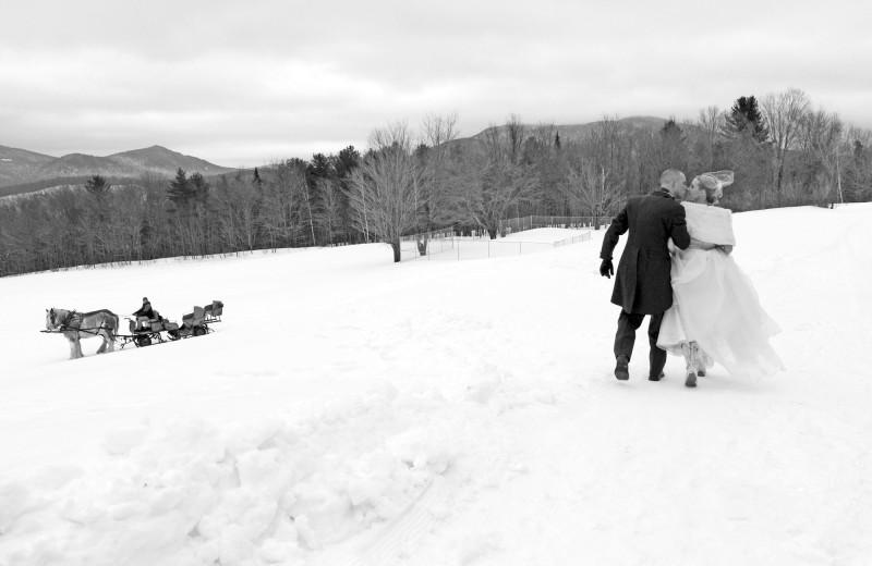 Winter wedding at The Mountain Top Inn & Resort.