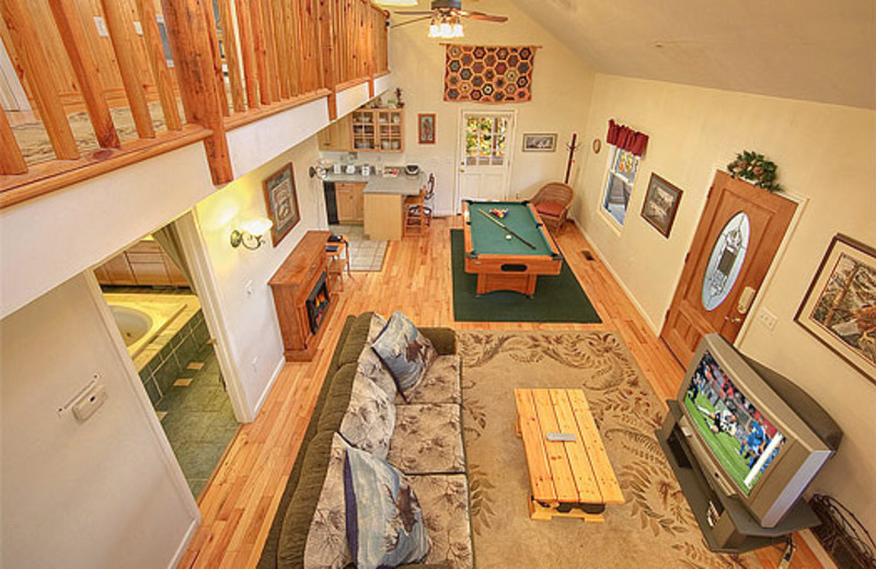 Aerial view of first floor at American Patriot Getaways, LLC.