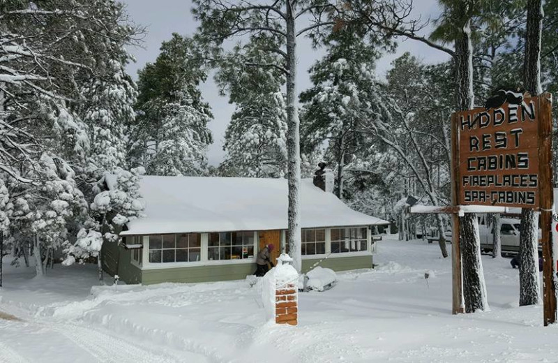 Winter time at Hidden Rest Resort.