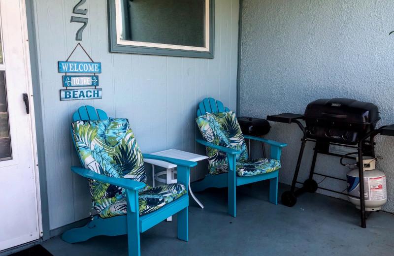 Rental porch at Sunnyside Resort Rental Company.