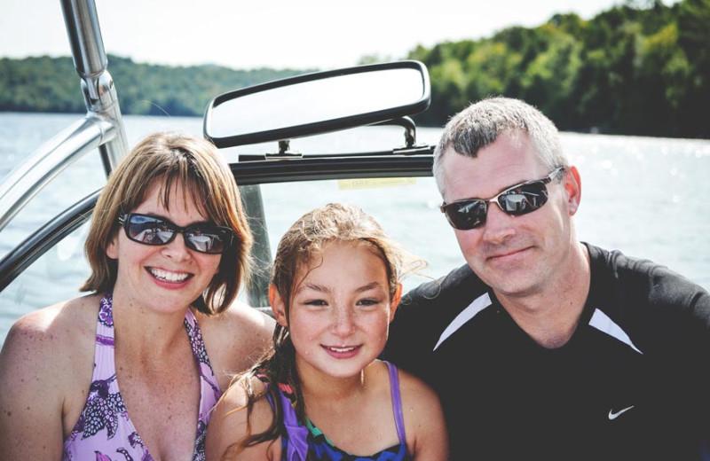 Family boating at Timberlock.