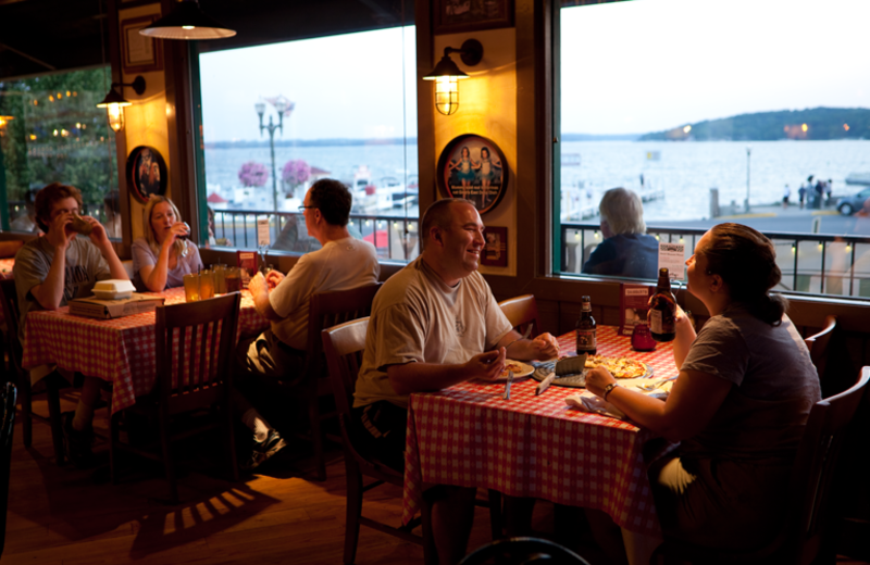 Dining at Harbor Shores.