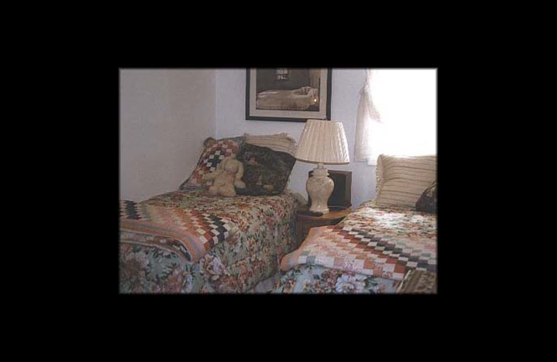Guest room at Yvonne's Kenai River Belle House.