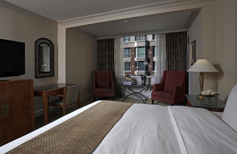 Guest room at Park Hyatt Toronto.