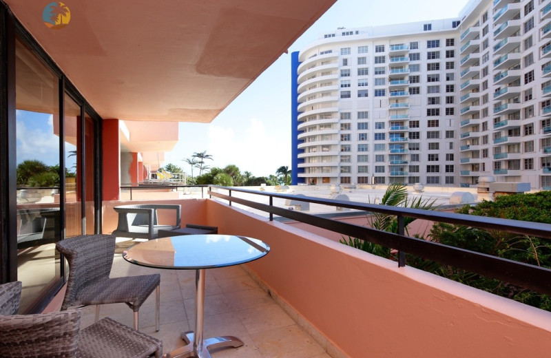 Rental balcony at HORA Vacation Rentals.