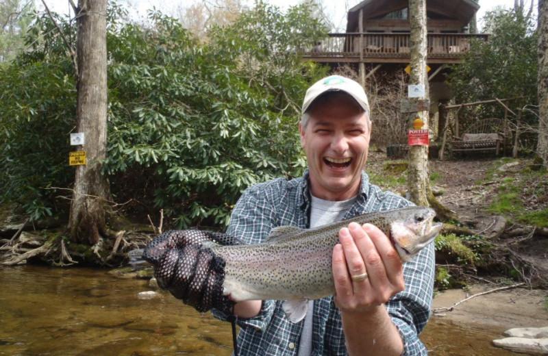Fishing at Leatherwood Mountains Resort.
