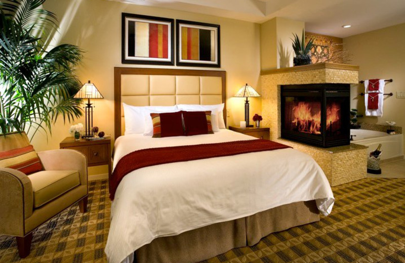 Guest room at Lawrence Welk Resort Villas.