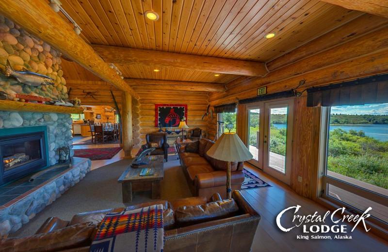 Lobby at Crystal Creek Lodge.