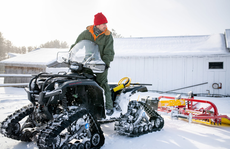 Snow mobile at Edson Hill.