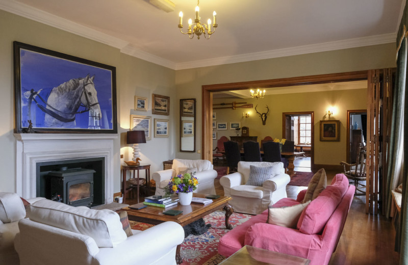 Lounge at Arisaig House.
