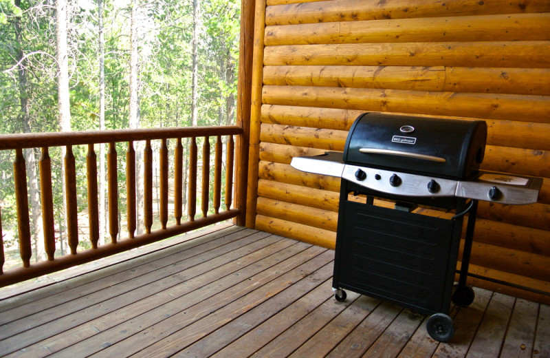Cabin grill at Sawtelle Mountain Resort.