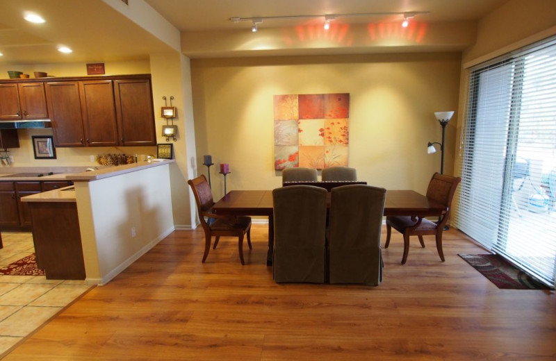 Vacation rental dining room at SkyRun Vacation Rentals - Scottsdale, Arizona.