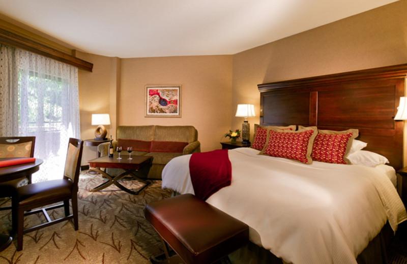 Guest room at Glenwood Hot Springs.