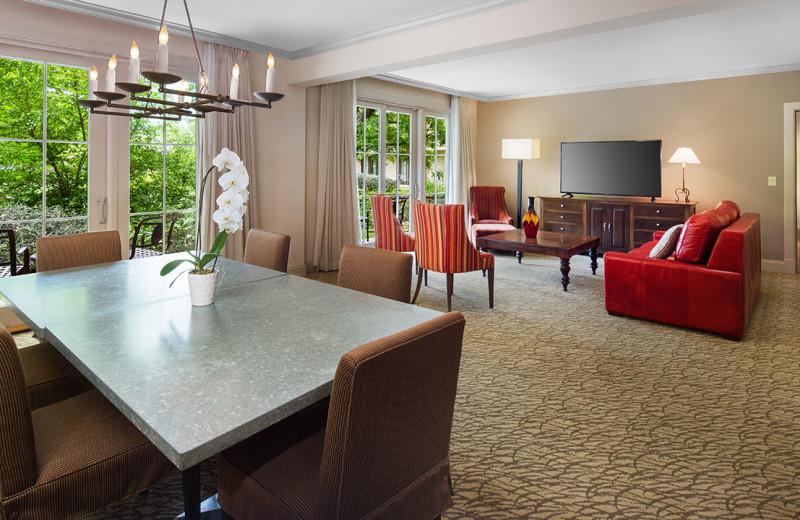 Guest suite at Hyatt Regency Lost Pines Resort and Spa.
