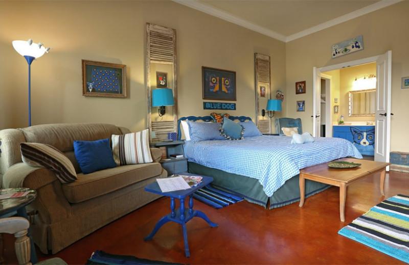 Guest room at Crescent Quarters.
