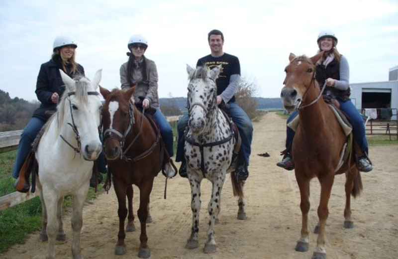 Family Riding Horses at  Eagle Ridge Resort