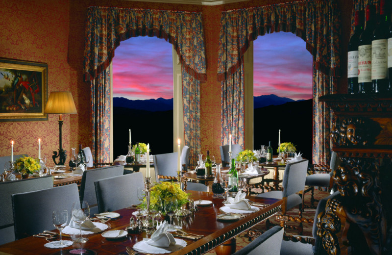 Dining at Inverlochy Castle.