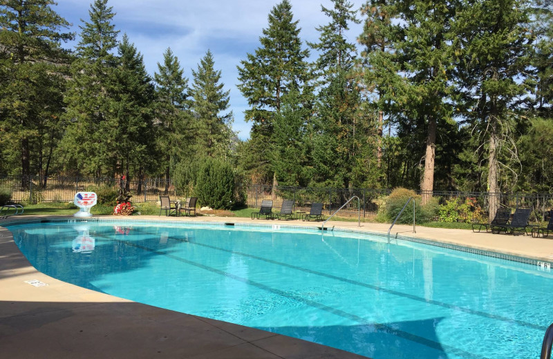 Pool at Freestone Inn and Cabins.