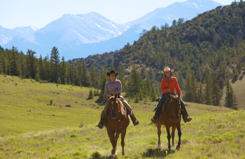 Horseback riding at Elk Mountain Ranch.